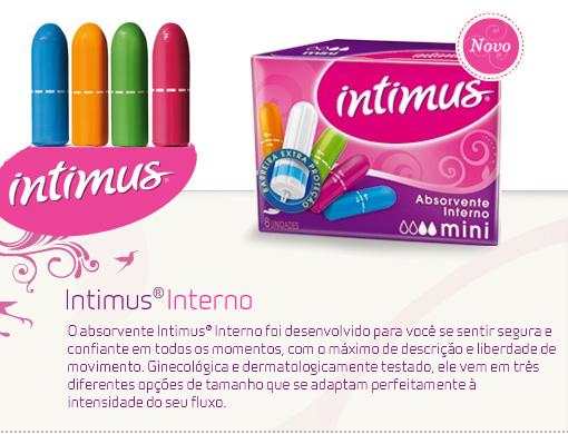Absorventes internos intimus for Intimus interno